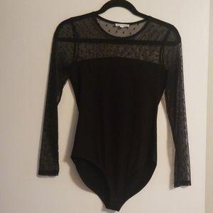 Black lace top bodysuit